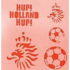"Schminksjabloon ""Hup Holland"""