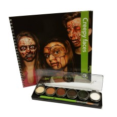 Cameleon Creepy faces Boek + Dermaniac palet