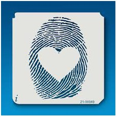 Love Fingerprint Stencil