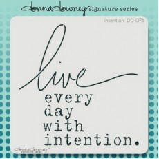 Stencil Live Every day with intention